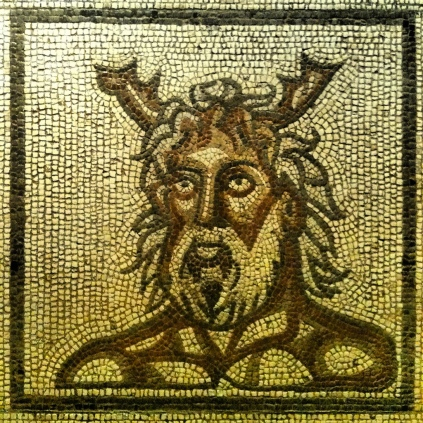 Horned God: Roman Mosaic AD160 by Cathedral City Guide (flickr)